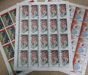 ARSENAL 1993 FA Cup Winners SET 3 Unused Complete Stamp Sheets Football Fans