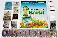 PANINI WC WM 2014 Brasil Brasile-Set completo tutti sticker + album INT. ed.