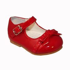 Design SEVVA Baby-infant First Walking Patent Spanish Style/party Bow Shoes UK 2 Infant Red