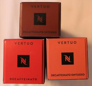 30 NESPRESSO VERTUO COFFEE CAPSULES PODS DECAF MIX  DECAFFEINATED  DECAFFEINATO