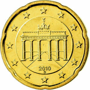 [#700014] République fédérale allemande, 20 Euro Cent, 2010, SPL, Laiton, KM:255