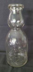 Vintage Cream Top Milk Bottle With A Cream Top Spoon