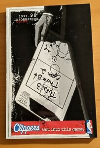 1997-98 LOS ANGELES CLIPPERS NBA BASKETBALL MEDIA GUIDE
