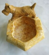 Pates pottery ashtray with terrier dog