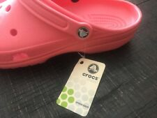 NEW  WOMEN'S  PINK CROCS CAYMAN SHOE  CLOG MULE SIZE Women 13 Men 11