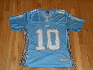 REEBOK ELI MANNING NEW YORK GIANTS WOMENS NFL FOOTBALL TEAM REPLICA JERSEY MED
