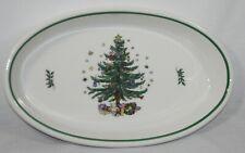 """NIKKO Christmastime Oval Baker 15"""" Christmas Tree Japan Holiday Dish RARE"""