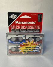 New In Package!  Panasonic Bonus Pack Blank Tape Cassette Media RT-604VP
