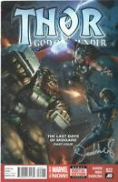 Thor God of Thunder 22 VF Signed By Jeehyung Lee Marvel