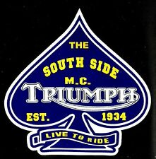 THE SOUTH SIDE MOTORCYCLE CLUB 1934 Vinyl Decal Sticker HARLEY DAVIDSON TRIUMPH
