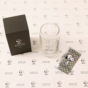 Snoopy PEANUTS 5th Anniversary Original Cafe Glass with Box Limited Edition