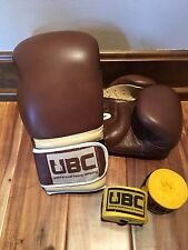 NEW - UBC Boxing Gloves - Everlast Bag Gloves -16oz - Handwraps included