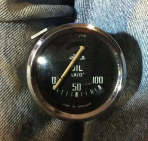 Oil Pressure Gauge for Triumph TR3, 3A, 4, Curved Glass SN PL2561/00
