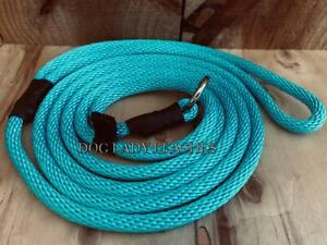 """SMALL DOG SLIP LEAD/LEASH-UP TO 25 LBS-TURQUOISE -1/4"""" X 6' LONG- NEW-  (126)"""
