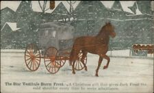Horse Wagon Star Vestibule Storm Front c1910 Postcard jrf