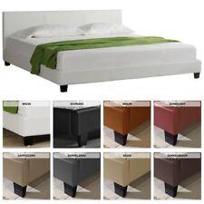 Design Letto Imbottito 140 160 180 200 X 200 CM Matrimoniale Supporto Cuoio Arte