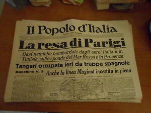 quotidiano-IL POPOLO D'ITALIA n.167-1940-serie GIORNALI DI GUERRA-RIPRODUZIONE