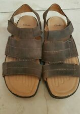 Mens Clarks Brown Leather Sandal new Size 11