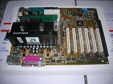 ABIT KA7-100 AMD ATHLON MOTHERBOARD ISA Slot RAM New Capacitors & Battery NO CPU