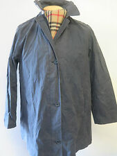 Vintage Genuine Burberry Cotton lightweight Mac / jacket UK 14 Euro 42 in Blue