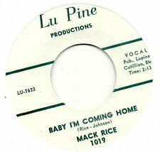 MACK RICE  BABY I'M COMING HOME /MY BABY  LUPINE Re-Iss/Re-Pro  R&B/MOD/NORTHERN