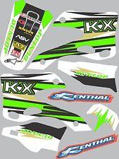 Graphics for 1999-2002 Kawasaki KX 125 KX 250 KX125 KX250 Decal fender shrouds