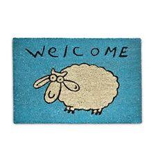 ️ Relaxdays Welcome Zerbino Fibra di Cocco 60x40 Blu