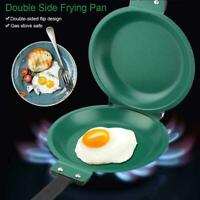 Double-sided Frying Pan Non-Stick Barbecue Cookware Kitchen Tools V0E2