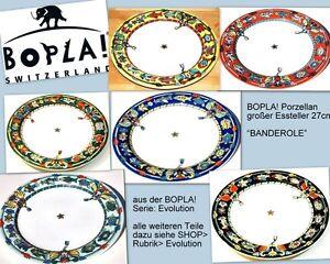 BANDEROLE BOPLA Porzellan 27cm Ø grosser Essteller Fleischteller lg Plate 10-5/8