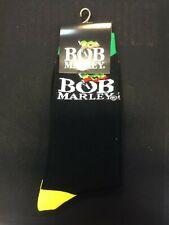 More details for official licensed - bob marley - logo ankle socks size 7/11 reggae rasta