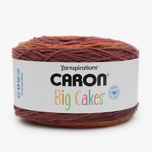 NEW CARON BIG CAKES CRANBERRY CRISP 603 yards of Yarn 10.5oz/300g