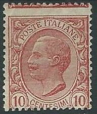 1906 REGNO EFFIGIE 10 CENT VARIETà DENTELLATURA SPOSTATA MH * - W151