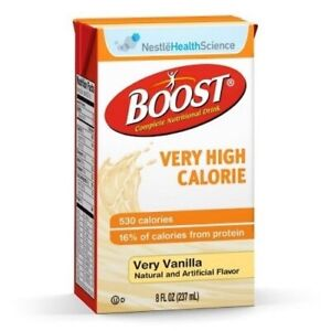 27 PACKS : Boost VHC Nutritional Drink, Ready to Drink 27ct Case, Vanilla, 8 oz