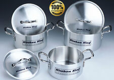 6 PC SAUCEPAN CASSEROLE SET HIGH QUALITY ALUMINIUM STOCK POT SET KITCHEN KING®
