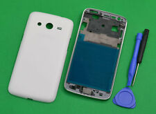 White Housing (Front Frame +Battery Cover) For Samsung Galaxy Core LTE SM-G386F