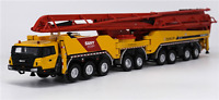 SANY 86m Concrete Pump Truck 1/50 Diecast Finished Construction Machinery Model