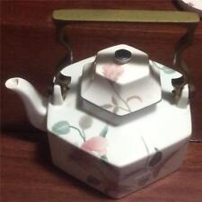 Mikasa Fine Bone China Silk Flowers F3003 as new Brass Handled Teapot