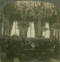 Peace Conference. French Foreign Office, Quai d'Orsay, Paris - WW1 Stereoview
