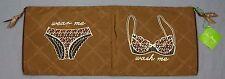 NWT $40 Vera Bradley Wash & Wear Organizer Bag Toast Brown Laundry Travel Tote