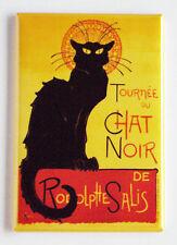 Chat Noir FRIDGE MAGNET (2 x 3 inches) black cat poster tournee france