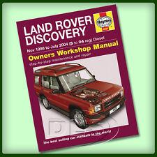 Land Rover Discovery 2 Diesel-Haynes Manual de taller de 1998 a 2004 (da4493)