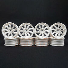Speed Mind Turbine Blade Racing Wheel 24mm 0 Offset White 1:10 RC Cars #GT508W
