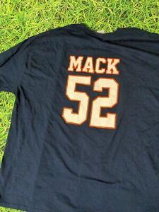 Chicago Bears Khalil Mack NFL Jersey T-shirt Blue Short Sleeve Sz 4XL