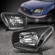 FOR 2001-2003 TOYOTA RAV4 XA20 PAIR BLACK HOUSING CLEAR CORNER HEADLIGHT/LAMP