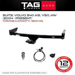 TAG Euro Towbar Fits Volvo V50 & S40 2004-Current Towing Capacity 1600Kg 4x4