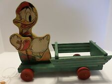 1940's Vintage Donald Duck Pull Toy Fisher Price # 544