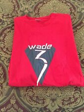Converse NBA Miami Heat Dwayne Wade #3 Logo Red Cotton T-Shirt Size XXL NWOT