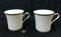 Lenox Eternal Mug Tea Coffee Gold Fine China Bone Bisque Collection Set of 2