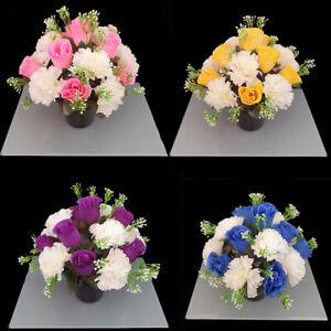 Artificial/Silk flower Grave Arrangement in memorial Crem pot Grave pots