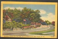 Unused Postcard Entrance Hawks Nest Park New River Canyon West Virginia WV